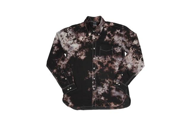 黒紋付染めシャツ 「黒抜 -くろばつ-(Black out)」