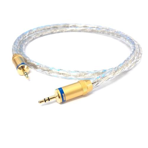 【アウトレット 数量限定】GY-7003MA 銀メッキ銅線オーディオケーブル 3.5mm mini-mini 1m::YARBO