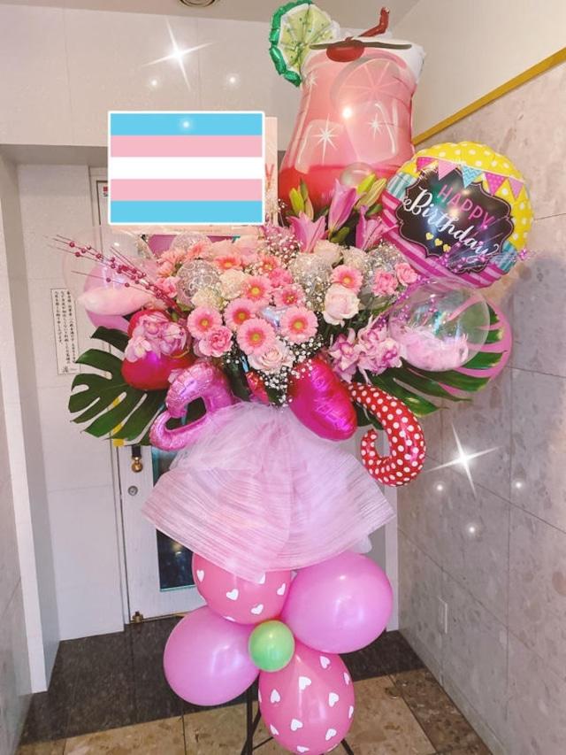 生花とバルーンスタンド S-③