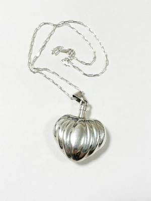 Vintage 925 Silver Perfume Bottle Pendant Necklace Made In Mexico
