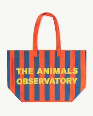 【21SS】the animals observatory ( TAO )  TWILL TOTE BAG ストライプ red blue