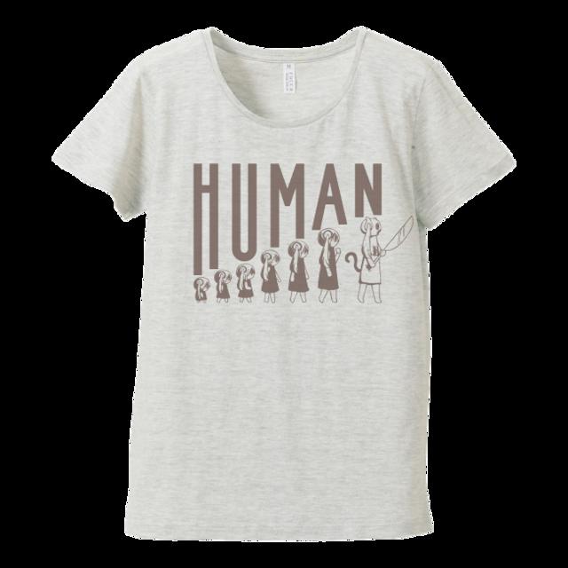 ピノキオピー 人間が着るやつTシャツ(レディース / オートミール) - メイン画像