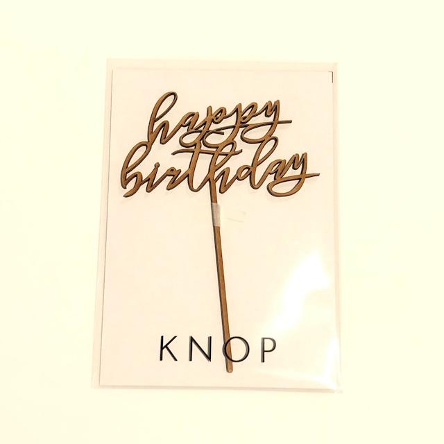 KNOP クノップ ケーキトッパー / happy birthday