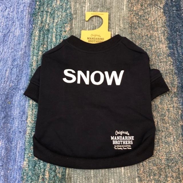 Dog wear ロゴトレーナー SNOW(XL,XXLサイズ)