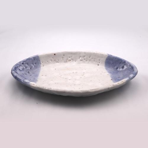青志野 楕円皿 大  Blue Shino Elliptical Dish LARGE