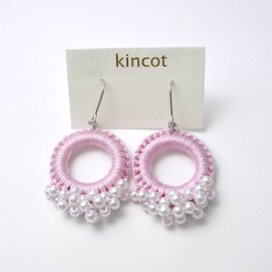 kincot リングパールピアス(ピンク)