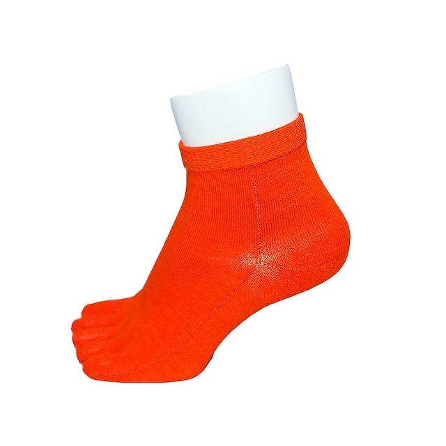 Inner-Fact 5Finger Short Socks (Dark Orange)