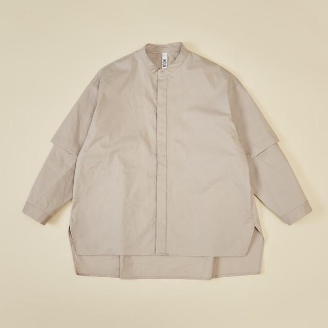 MOUN TEN. 0サイズ detachable shirts [21W-MS25-1001b] MOUNTEN.