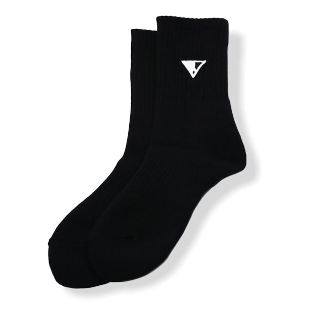 HALFLOGO Socks (Black × Whitelogo)