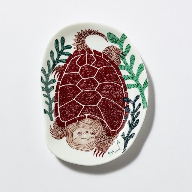 moritaMiW/MiW小皿/「水底の草原の亀」M-68388-00-2