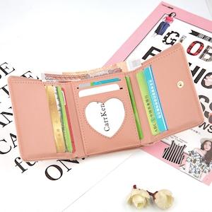 ♡三つ折りハート柄ミニ財布