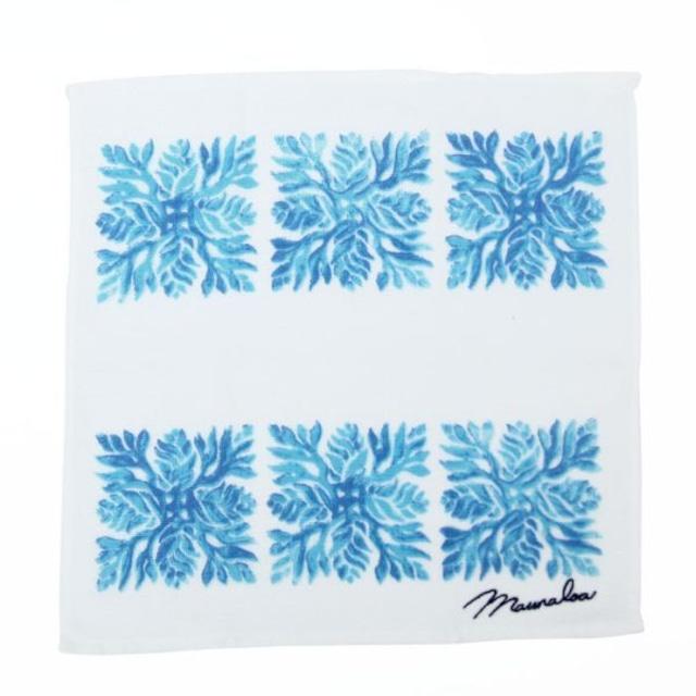 【Mauna loa/マウナロア/MMJ】ハワイアンガーゼハンカチ グラデーションキルト