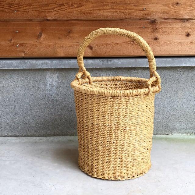 ボルガバスケット バケツ型 かご 収納 カゴ インテリアバスケット
