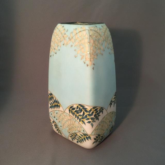 四方シダ文様七宝花瓶