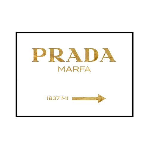 """PRADA MARFA 1837 MI"" Gold marble - POSTER [SD-000563] A3サイズ フレームセット"