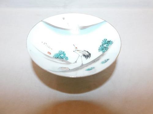 瀬戸焼盃(鶴松亀の図) Seto porcelain sake cup   (No24)