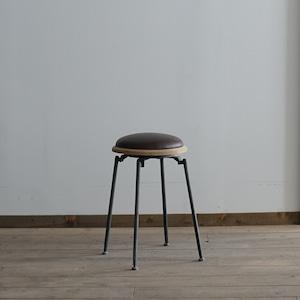 #02-12  Iron leather stool