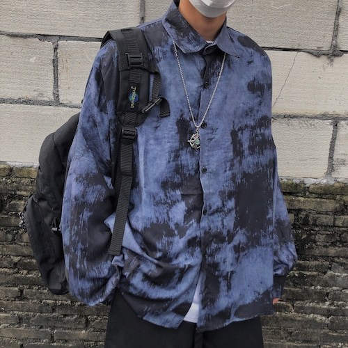 ダークブルールーズシャツ BL8158