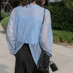 Lace two piece blouse(レースツーピースブラウス)b-372