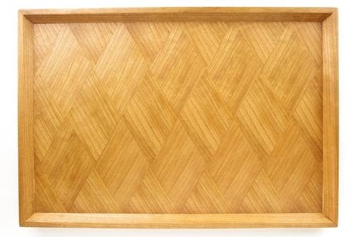 アメリカンブラックチェリー 菱形模様 長手盆0016