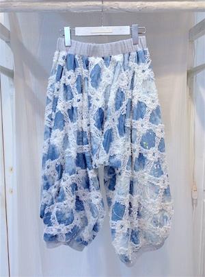 NIGATSU 刺繍もんぺ Ice blue