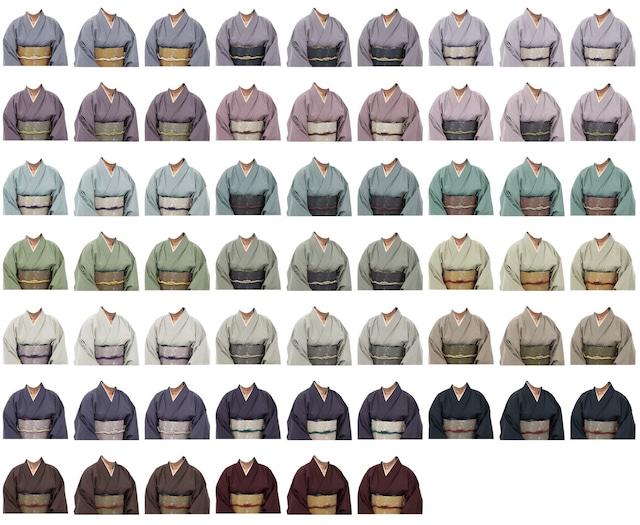 女性着物-カジュアルな生地-60個セット-B211