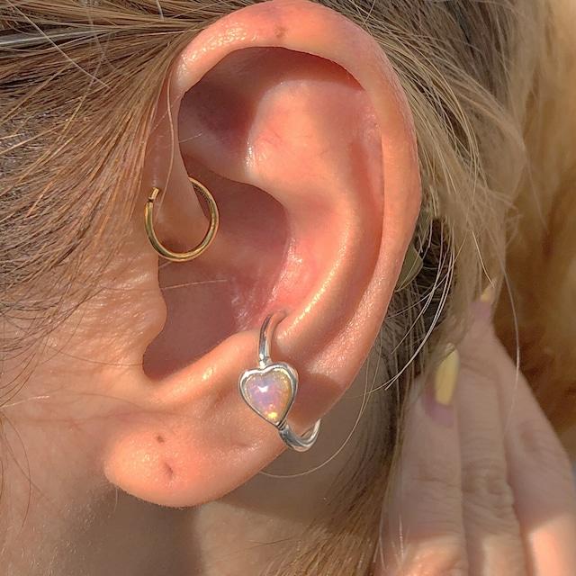 Vintage Opal Heart の snap RING body jewelry SILVER925 #LJ19037P 14GL #LJ19036P 14GM #LJ19035P 16GM