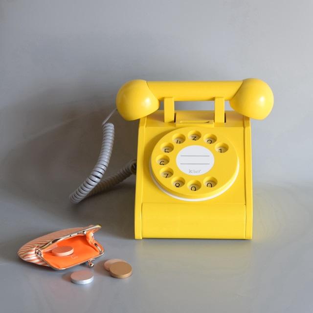 【kiko + キコ】telephone テレフォン イエロー