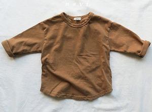 SALE★《韓国子供服》即日発送★シンプルロングTシャツ Simple Long shirt
