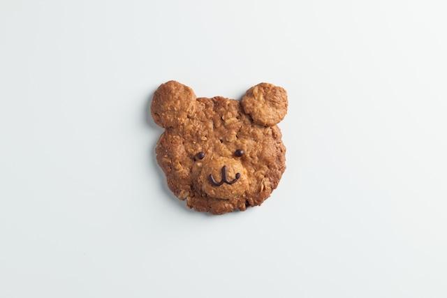 クマさんのオートミールクッキー