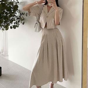 ガーリー セットアップ スカート | ショート ジャケット ガーリー スタイルアップ 韓国服