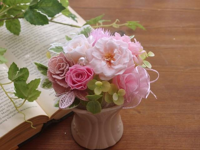 ふんわりロマンティック♡淡いピンクのお花の競演