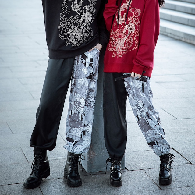 【卿棠シリーズ】★チャイナ風ズボン★ チャイナ服 男女兼用 カップル服 メンズ 着痩せ 合わせやすい 大きいサイズ