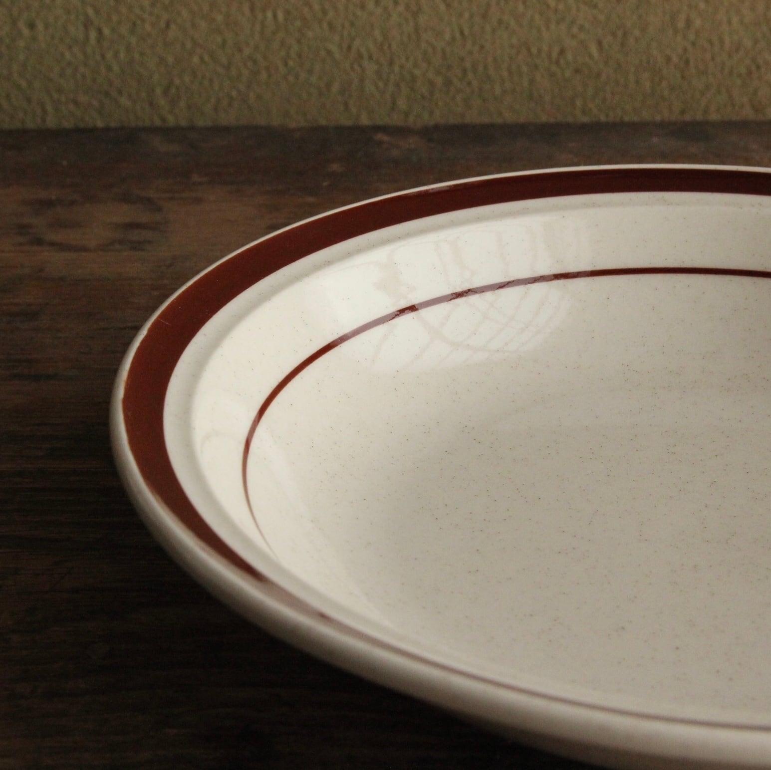 seyei  ブラウンラインのボウル皿 在庫3枚
