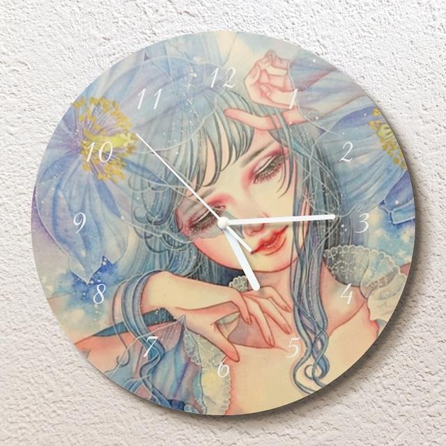 蒼に囁く壁掛け時計(L)