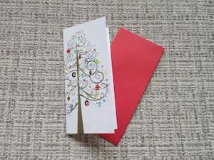 【パピルス】PAPYRUS クリスマスカード ホワイト 2枚セット