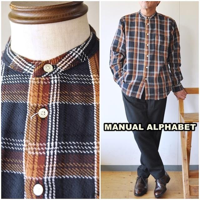manualalphabet  マニュアルアルファベット ツイルシャツ チェックシャツ 長袖シャツ MA-S-583 TWILL CHECK LOOSE FIT
