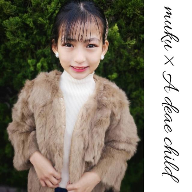 【Mukuコラボ】90~150cm ★ エコファー ジャケット アウター 羽織