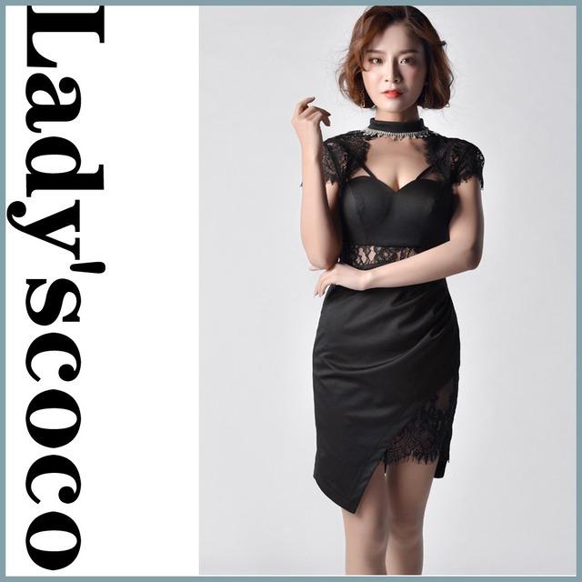 パッチワークレースドレス  ウエストホローYN8001