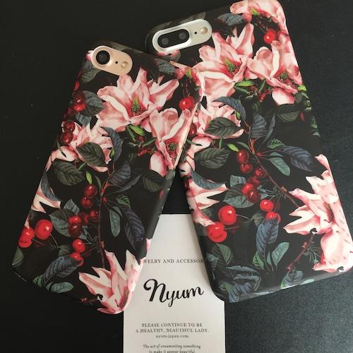 【iphone7/8/7plus/8plus/iPhoneカバー】エレガントブロッサムiPhoneケース 花柄 フラワー
