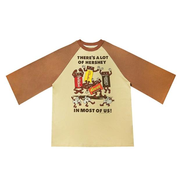 【SELECT】HERSHEY'S7分袖ラグランTシャツ