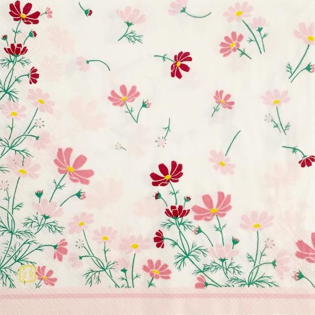 【FRONTIA】バラ売り1枚 ランチサイズ ペーパーナプキン コスモス ピンク