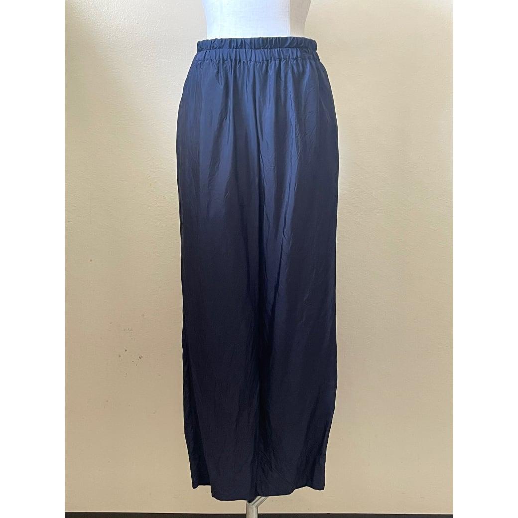 【hippiness】cupro easy pants (navy) /【ヒッピネス】キュプラ イージーパンツ(ネービー)
