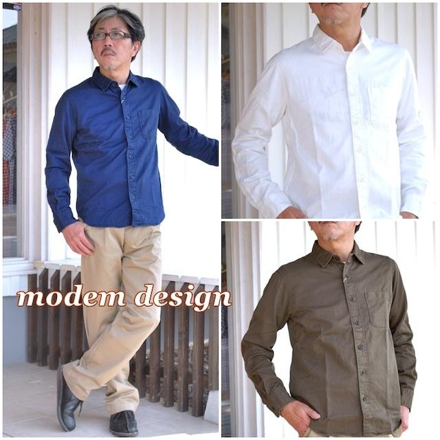 modemdesign MODEMDESIGN モデムデザイン シャツ ワークシャツ 無地 M1603756  メンズ シャツ