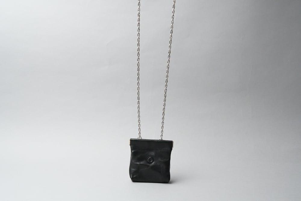 ワンタッチ・コインケース ■iongブラック・ムートンレオパード■ - 画像3
