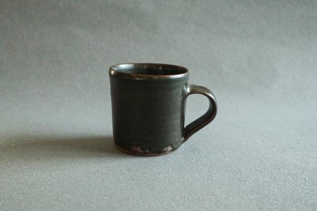■光藤佐  :  黒釉マグカップ