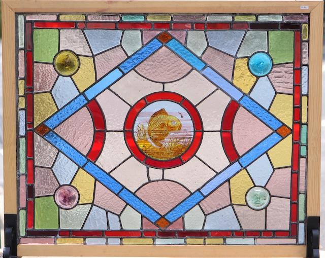 【英国ビクトリア時代】 アンティークステンドグラス F6-841