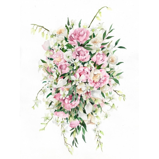 Custom Wedding Bouquet Painting【LLサイズ】