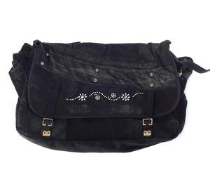 Vintage Messenger Bag black 【messenger03】