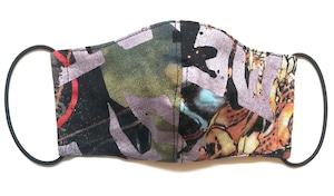 【COTEMER マスク 日本製】BAND PRINT MASK M0412048